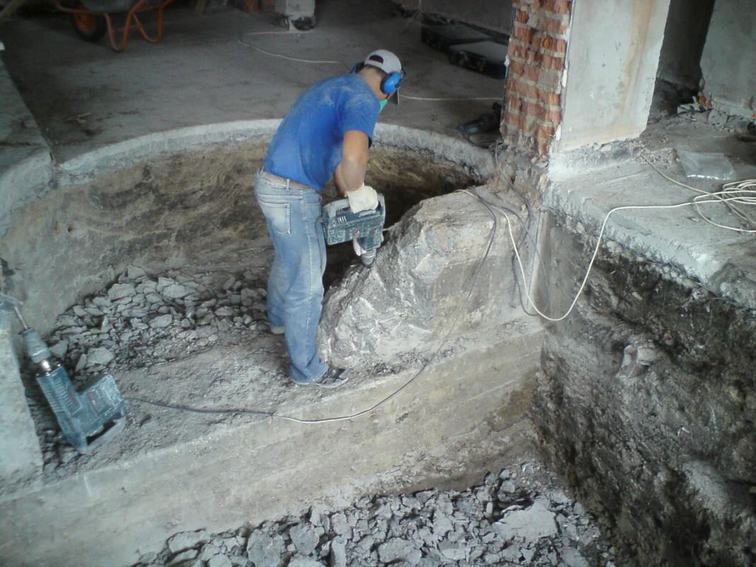 Демонтаж бетона Киев и область